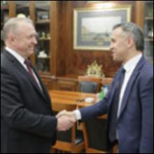Состоялась встреча главы ТПП РФ Сергея Катырина с председателем ТПП Таджикистана Джамшедом Джумахонзода.